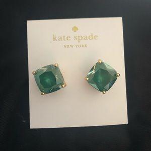 Emerald Green Kate Spade studded earrings! NEW!